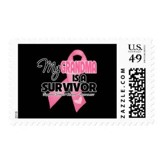 My Grandma is a Survivor - Breast Cancer Postage Stamp
