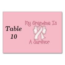 My Grandma Is A Survivor Table Number