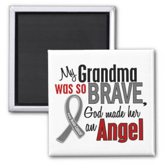 My Grandma Is An Angel 1 Brain Cancer 2 Inch Square Magnet