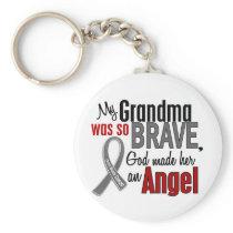 My Grandma Is An Angel 1 Brain Cancer Keychain