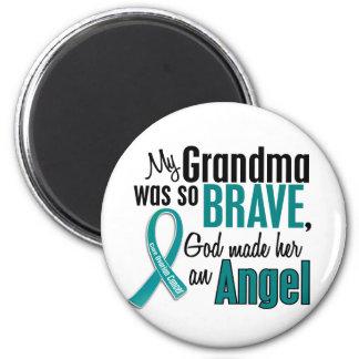 My Grandma Is An Angel 1 Ovarian Cancer Magnets
