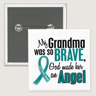 My Grandma Is An Angel 1 Ovarian Cancer Pinback Button