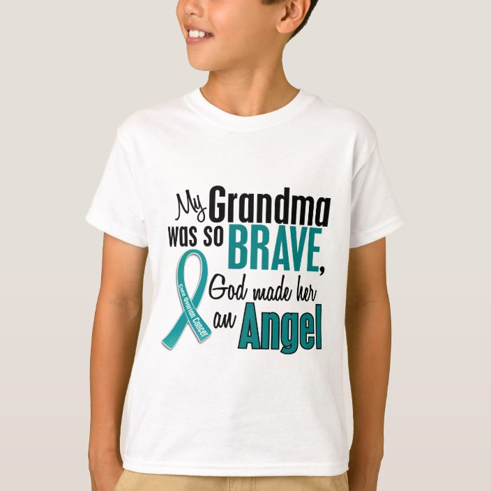 Nana Store I Wear Teal for My Mom Ovarian Cancer Awareness T Shirt
