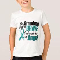 My Grandma Is An Angel 1 Ovarian Cancer T-Shirt