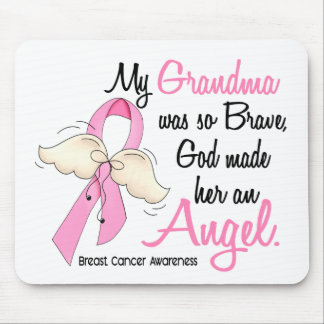 My Grandma Is An Angel 2 Breast Cancer Mouse Pad