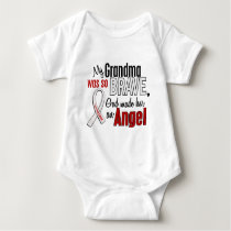 My Grandma Is An Angel Lung Cancer Baby Bodysuit