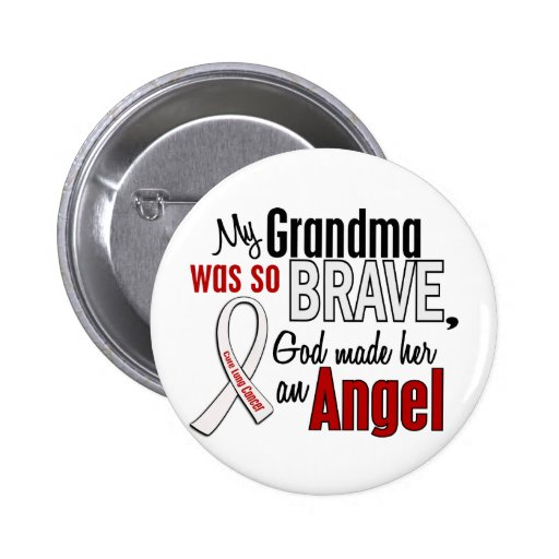 My Grandma Is An Angel Lung Cancer Buttons