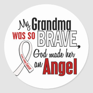 My Grandma Is An Angel Lung Cancer Classic Round Sticker