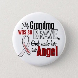 My Grandma Is An Angel Lung Cancer Pinback Button
