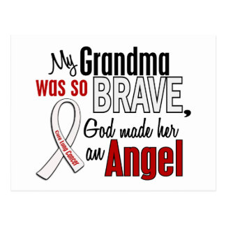 My Grandma Is An Angel Lung Cancer Postcard