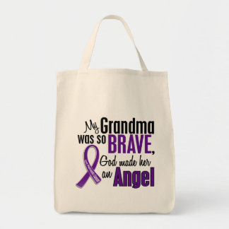 My Grandma Is An Angel Pancreatic Cancer Grocery Tote Bag