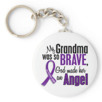 My Grandma Is An Angel Pancreatic Cancer Keychain