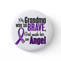 My Grandma Is An Angel Pancreatic Cancer Pinback Button
