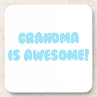 My Grandma is Awesome in Blue Drink Coaster
