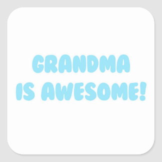 My Grandma is Awesome in Blue Square Sticker