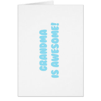 My Grandma is Awesome in Blue Stationery Note Card