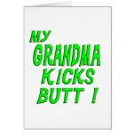 My Grandma Kicks Butt! Greeting Card