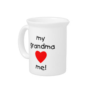 my grandma loves me beverage pitchers