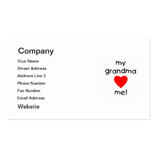 my grandma loves me Double-Sided standard business cards (Pack of 100)