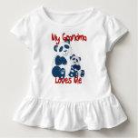 My Grandma Loves Me Panda Toddler T-shirt