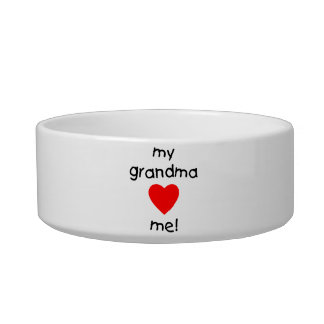 my grandma loves me pet water bowl