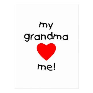 my grandma loves me postcard