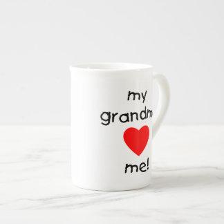 my grandma loves me tea cup