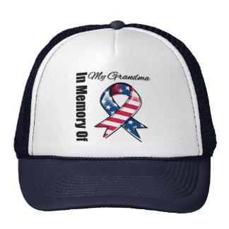 My Grandma Memorial Patriotic Ribbon Trucker Hat