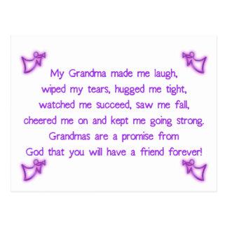 My Grandma Postcard