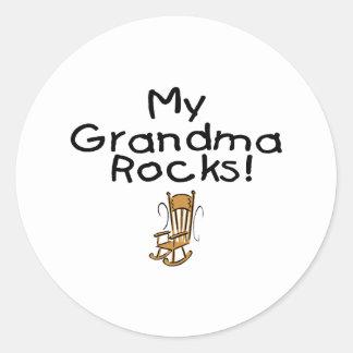 My Grandma Rocks! Classic Round Sticker