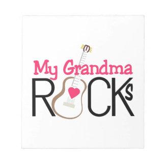 My Grandma Rocks Memo Note Pads
