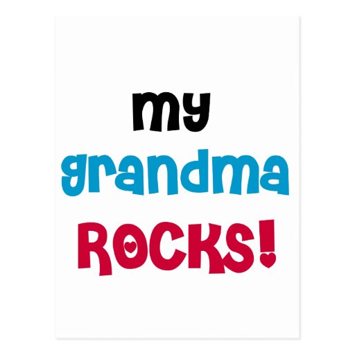 My Grandma Rocks T-shirts and Gifts Post Cards