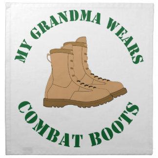 My Grandma Wears Combat Boots Napkin