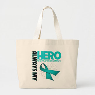 My Grandmother Always My Hero - Ovarian Cancer Large Tote Bag