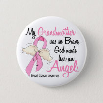 My Grandmother Is An Angel 2 Breast Cancer Button