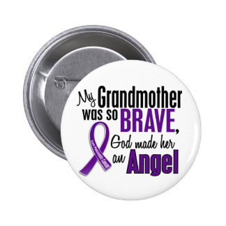 My Grandmother Is An Angel Pancreatic Cancer Pinback Buttons