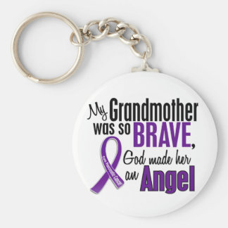 My Grandmother Is An Angel Pancreatic Cancer Keychain