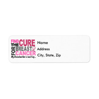 My Grandmother Is Waiting Breast Cancer Label