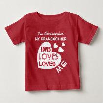 Toddler//Kids Ruffle T-Shirt My Grandma in Wyoming Loves Me