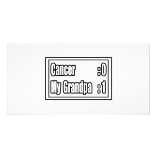 My Grandpa Beat Cancer (Scoreboard) Photo Card
