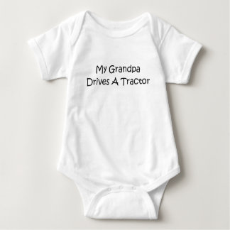 My Grandpa Drives A Tractor Baby Bodysuit