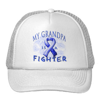 My Grandpa Is A Fighter Blue Trucker Hat