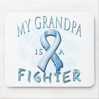 My Grandpa is a Fighter Light Blue Mouse Pad