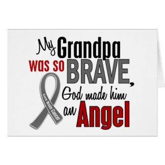 My Grandpa Is An Angel 1 Brain Cancer Greeting Card