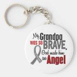 My Grandpa Is An Angel 1 Brain Cancer Keychain