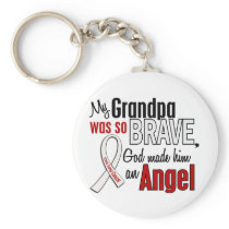 My Grandpa Is An Angel Lung Cancer Keychain