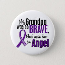 My Grandpa Is An Angel Pancreatic Cancer Button