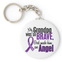 My Grandpa Is An Angel Pancreatic Cancer Keychain