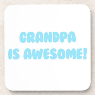My Grandpa is Awesome in Blue Beverage Coaster