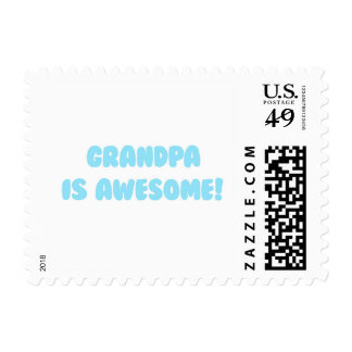 My Grandpa is Awesome in Blue Postage
